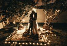 kobieta i mężczyzna, romantyczna randka, mąż i żona,