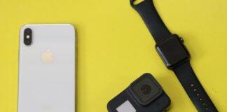 iPhone, kamerka GoPro, Apple Watch
